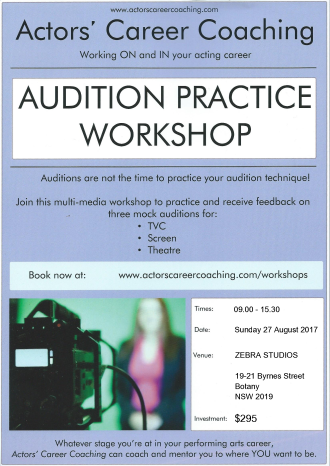 ACC - Audition Practice Workshop - 27 Aug 2017