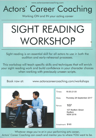 Poster - SIGHT READING workshop