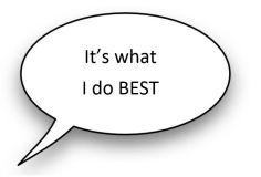 Speech bubble - Its what I do best